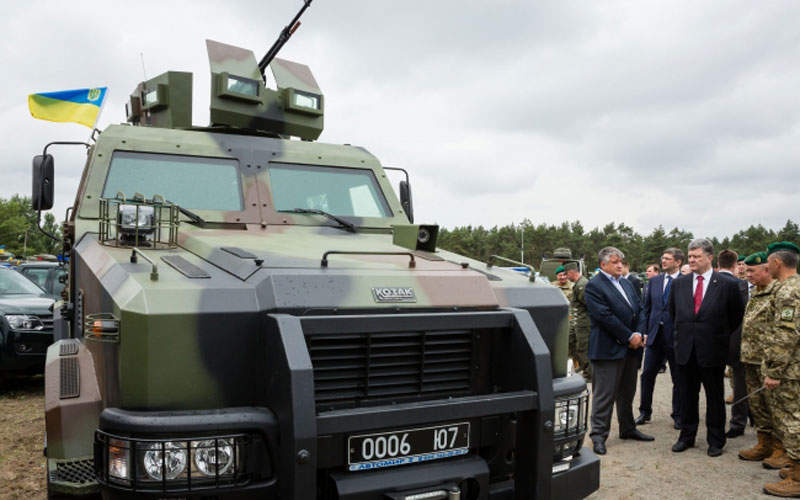 The Kozak-2 armoured vehicle is based on the Iveco EuroCargo 4x4 truck chassis. Image courtesy of NPO Practika.
