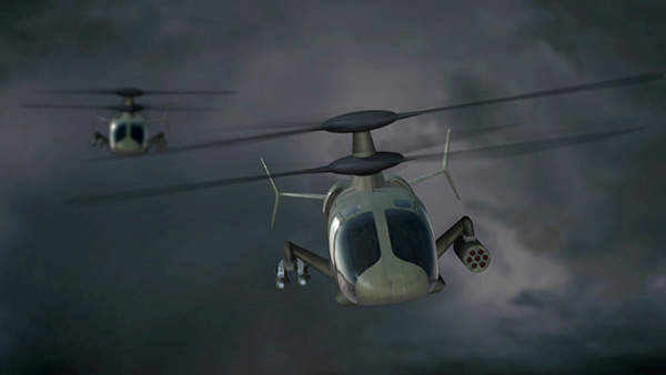 The S-97 Raider can be used in light tactical attack missions at altitudes of 10,000ft. Copyright Sikorsky Aircraft Corporation. All rights reserved.
