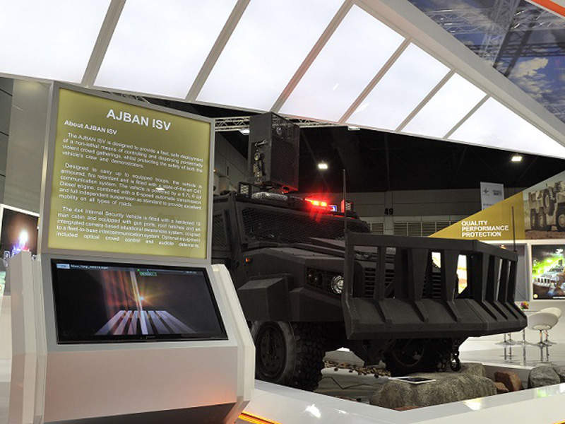 An AJBAN Internal Security Vehicle (ISV) on display. Image courtesy of NIMR AUTOMOTIVE LLC.