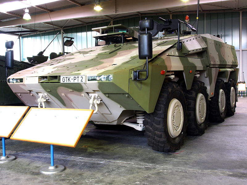 The Boxer armoured vehicle is powered by an MTU Type 8V-199 TE20 diesel engine.