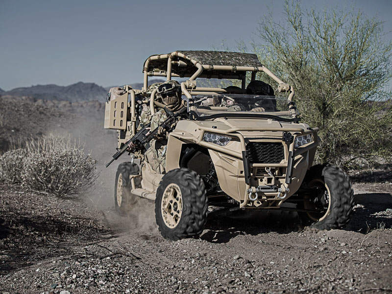 MRZR-D4 off-road vehicle offers high power and range. Image courtesy of Polaris Industries Inc.
