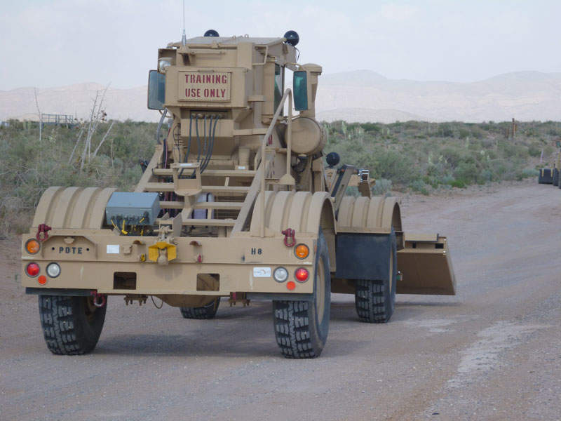 Husky 2G is a two-seater variant of the Husky vehicle-mounted mine detector. Image courtesy of Lt. Col. Aaron Dorf, 5th Armored Brigade, Division West.