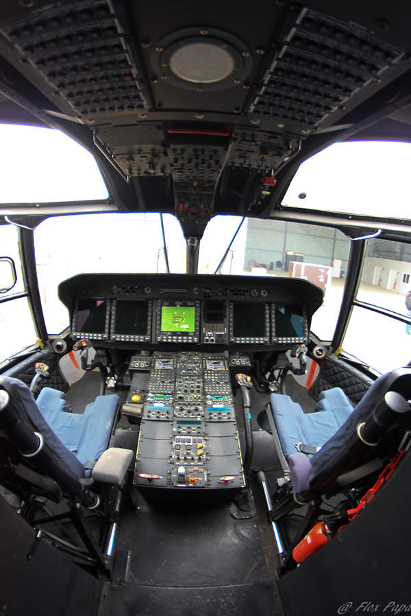 The full glass cockpit of NH90 TTH accommodates advanced avionics and mission systems. Image courtesy of Flox Papa.