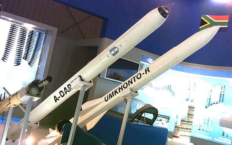 The Umkhonto-R missile has a maximum range of 20km.