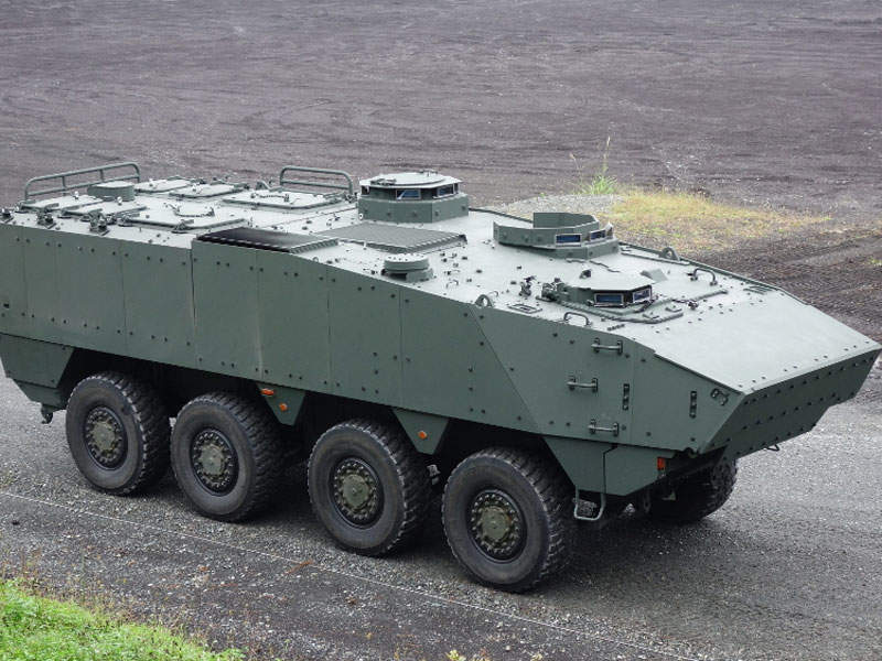 The new armoured vehicle is designed by Komatsu's Defence Systems Division. Image courtesy of Acquisition, Technology & Logistics Agency (ATLA).