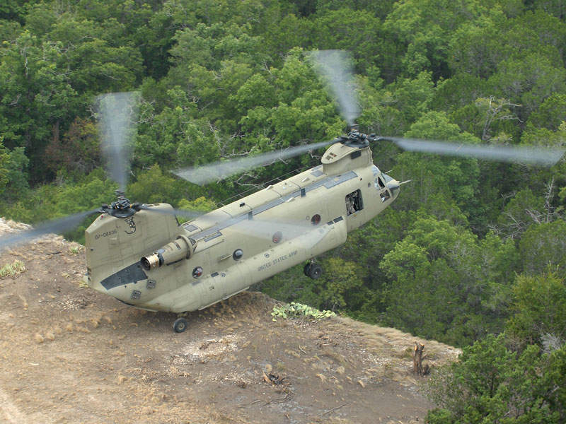 The RIV is air transportable by CH-47 Chinook twin-engine heavy-lift helicopter.