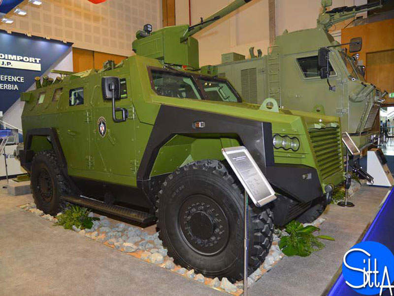 Milosh armoured vehicle can attain a maximum speed of 110km/h. Image courtesy of Ministère de la Défense.