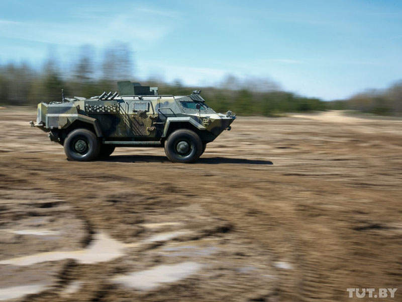 Cayman armoured vehicle has a maximum road speed of 100km/h. Image courtesy of tut.by.