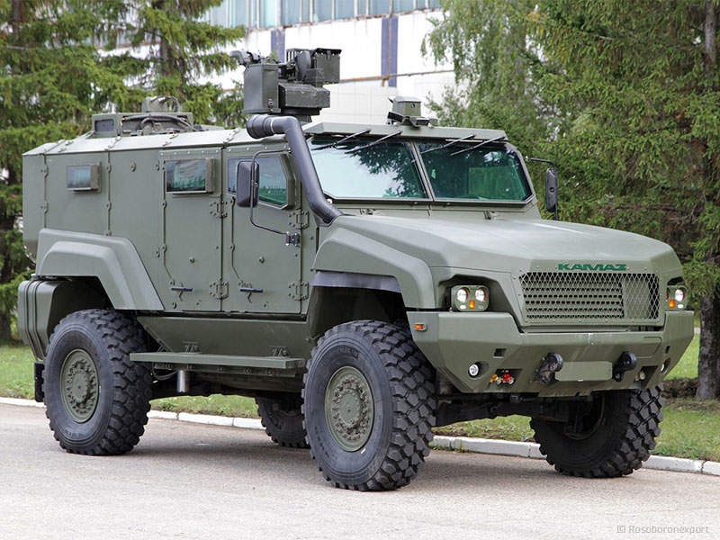 The Typhoon-K vehicle is mounted with a stabilised remotely controlled weapon station. Image courtesy of www.roe.ru