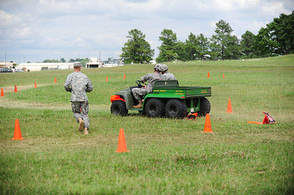 KY-Soldiers from 4th Brigade Combat Team drive a Gator vehicle during the Safety Stand Up training at Fort Campbell. Image courtesy of US Army photo by Staff Sgt. Todd A. Christopherson, 4th Brigade Combat Team Public Affairs.