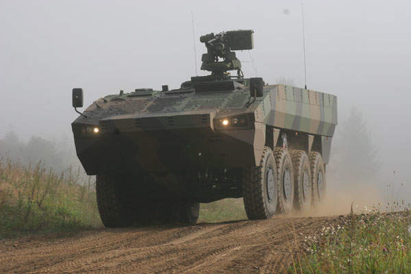 Havoc 8x8 AMV was developed based on the Patria 8x8 AMV. Image courtesy of Patria Oyj.