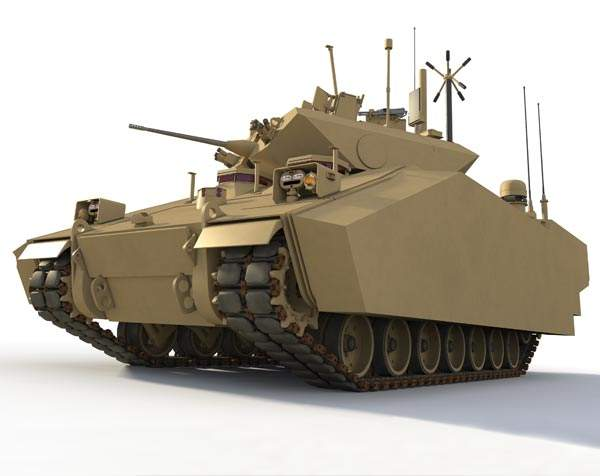 The Ground Combat Vehicle (GCV) will be equipped with hybrid electric drive propulsion system. Image courtesy of BAE Systems.