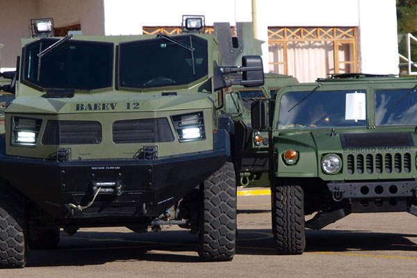 The Colombian Army received the second Hunter TR-12 APC in July 2013. Image courtesy of Armor International S.A.