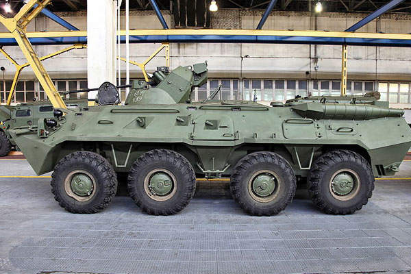 BTR-82AM is the latest modification of the BTR-82A wheeled armoured personnel carrier. Image courtesy of Vitaly V. Kuzmin.
