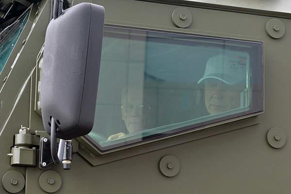 The Kamaz Typhoon armoured vehicle is equipped with bulletproof windows. Image courtesy of OJSC KAMAZ.