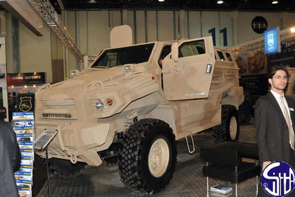 The Typhoon MRAP APC can attain a speed of about 100km/h. Image courtesy of Ministère de la Défense.