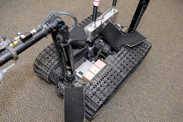 The TALON robot system features modular design.