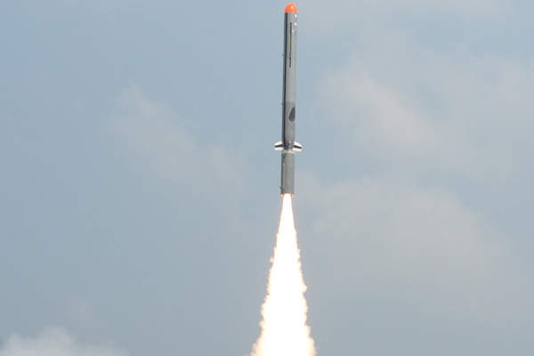 Nirbhay missile's flight test was successfully completed in October 2014. Image courtesy of Defence Research & Development Organisation (DRDO).