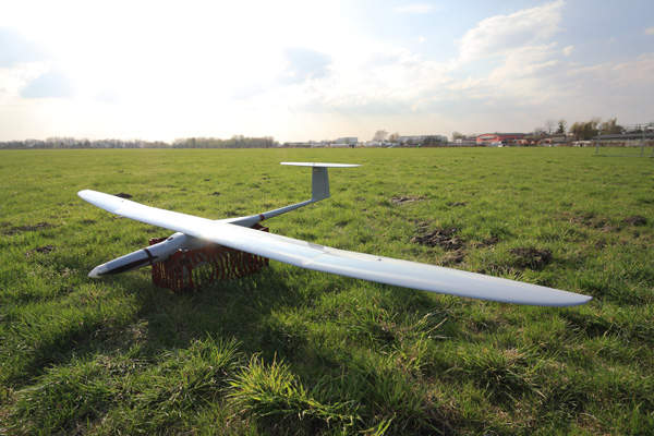 The Fly Eye unmanned air vehicle has a wing span of 3.6m. Image: courtesy of WB Electronics SA.