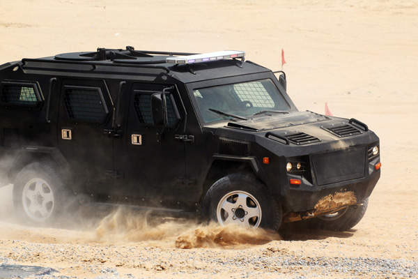 The Cobra 4x4 APC features a monocoque-type armoured design for the crew compartment. Image courtesy of STREIT Group.