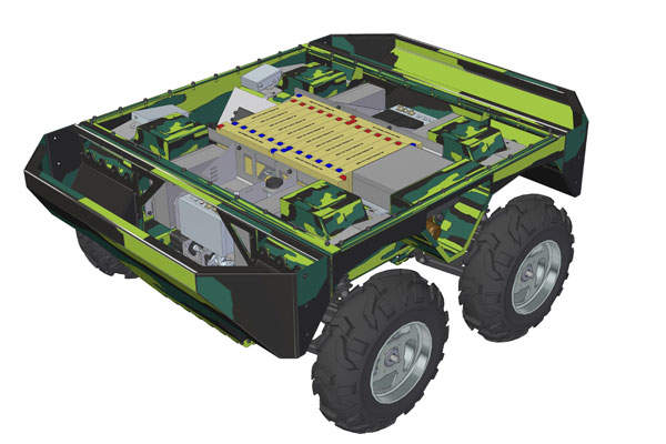 The TAROS V2 vehicle comes in 4x4/6x6/8x8 configurations. Image courtesy of VOP CZ.