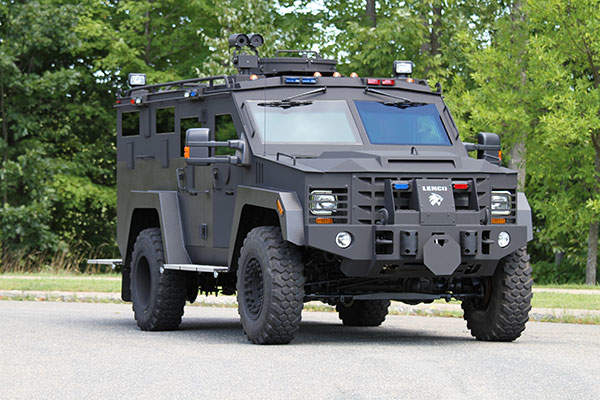 BearCat G3 comes with a rotating armoured turret. Image: courtesy of Lenco Armored Vehicles.