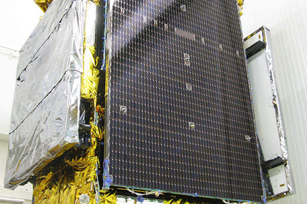 The satellite has a designed operational lifespan of 15 years. Image courtesy of Thales Alenia Space.