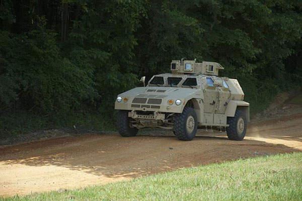 A Valanx JLTV (Joint Light Tactical Vehicle) during the JLTV Technology Development phase.