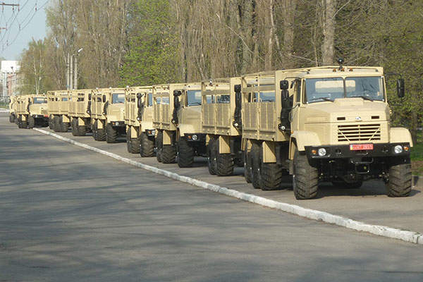 The Egyptian MOD took delivery of a large batch of KrAZ-6322 vehicles in April 2014. Image: courtesy of PJSC