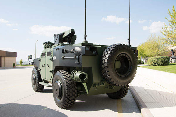 The PARS 4x4 armoured vehicle features run-flat tires. Image: courtesy of FNSS Savunma Sistemleri A.Ş.