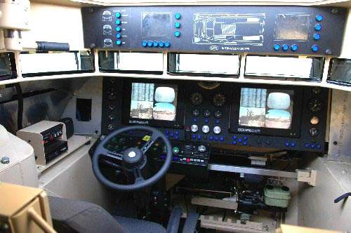 Interior cockpit controls of the GPV vehicle