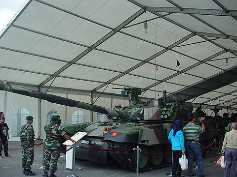 The PT-91M Pendekar is an export version deployed by the Malaysian armed forces.