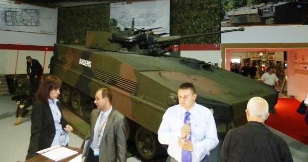 The armoured infantry fighting vehicle (AIFV) was unveiled at the MPSO 2011. Image courtesy of Mikolaj Leszczuk.