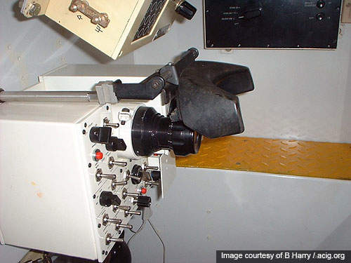 The gunner's compartment of the Arjun tank.