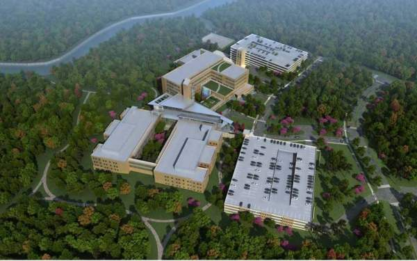 Artist's rendering of the 745,000ft² new hospital building at Fort Benning.