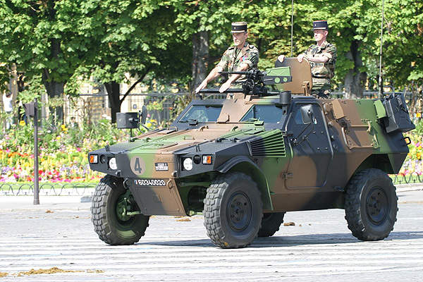 The French Army operates around 1,600 Panhard VBL vehicles. Image courtesy of Pierre Delattre.