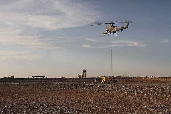 The USMC deployed the K-MAX unmanned aerial vehicle to deliver cargo and resupply troops in Afghanistan.
