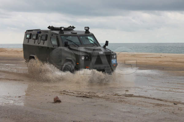 The Jaws APC offers superior mobility over rough terrains. Image courtesy of International Armored Group (IAG).