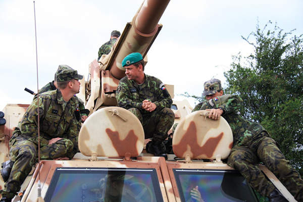 The DANA-M1 CZ self propelled wheeled howitzer is operated by a crew of five. Image courtesy of Ministry of Defence of the Czech Republic.