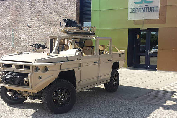 The gross vehicle weight of the ATTV is 4,500kg. Image courtesy of Defenture BV.