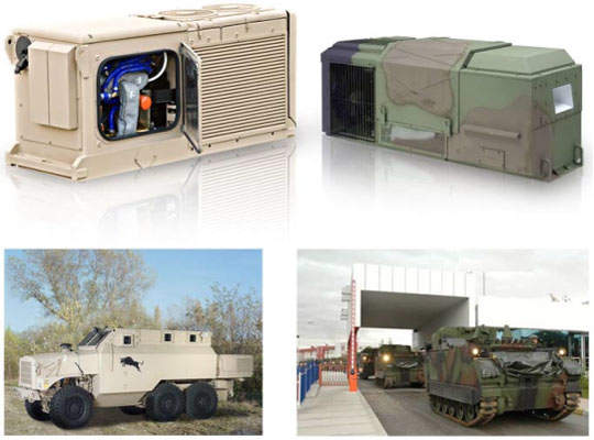 Various military vehicle protection systems designed to counteract CBRN and NBC threats