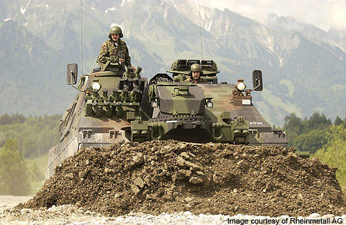 The MBT was developed in 2002 to meet the operational requirements of the Swiss Army.