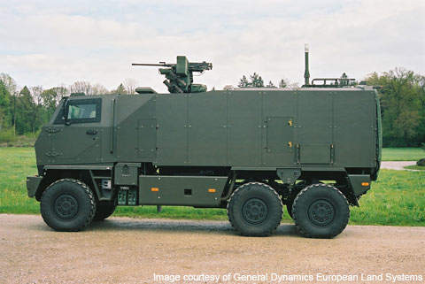 The Mowag Duro can be equipped with weapon stations, machine guns and grenade launchers.