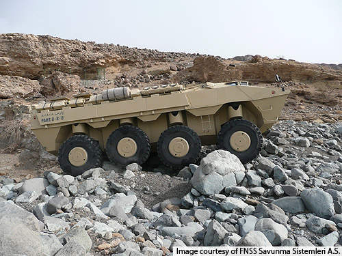 The vehicle is designed to operate in rough terrains and mountainous regions.