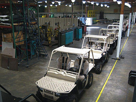 Rugged Terrain Vehicles in factory setting