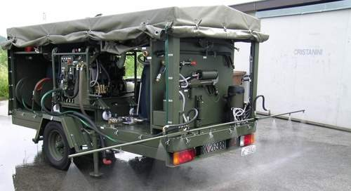Sanijet CBRN trailers