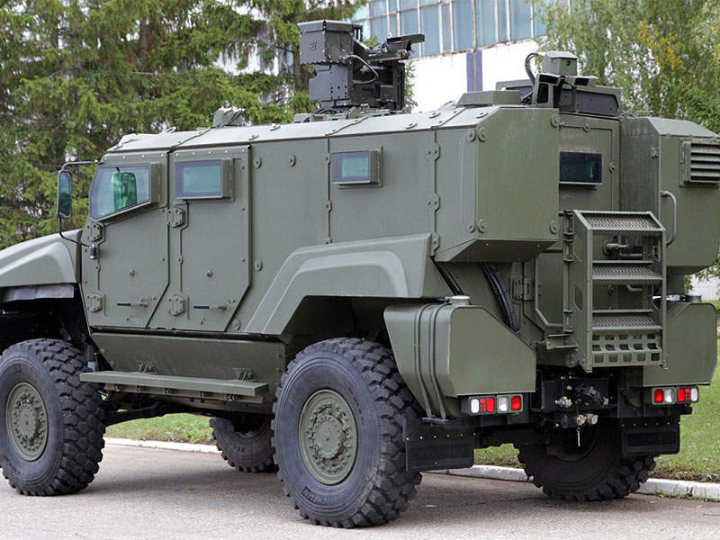 A rear and side profile view of the KAMAZ-53949 Typhoon-K vehicle. Image courtesy of www.roe.ru