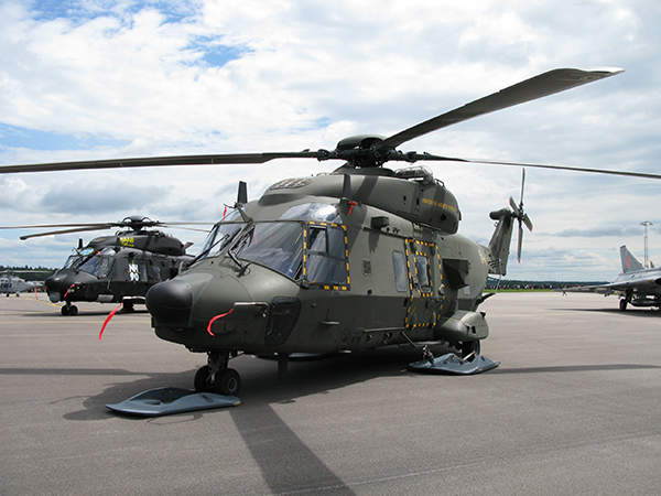 The Swedish Armed Forces NH90 TTHs displayed during Air Show at Malmen, Linköping 2010. Image courtesy of Herranderssvensson.