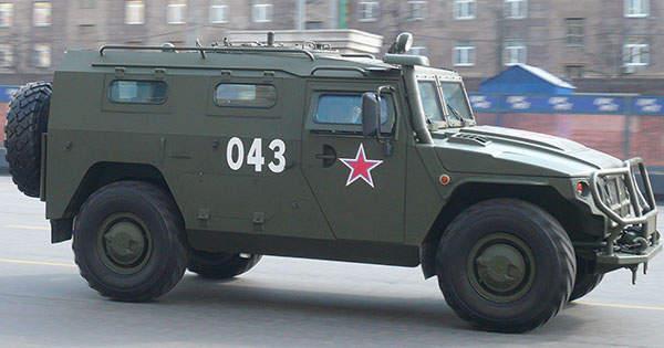 A side view of the GAZ Tigr light armoured vehicle. Image courtesy of Stanislav Kozlovskiy.