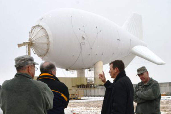 The tail and wings of the Aerostat provide stability to the system.